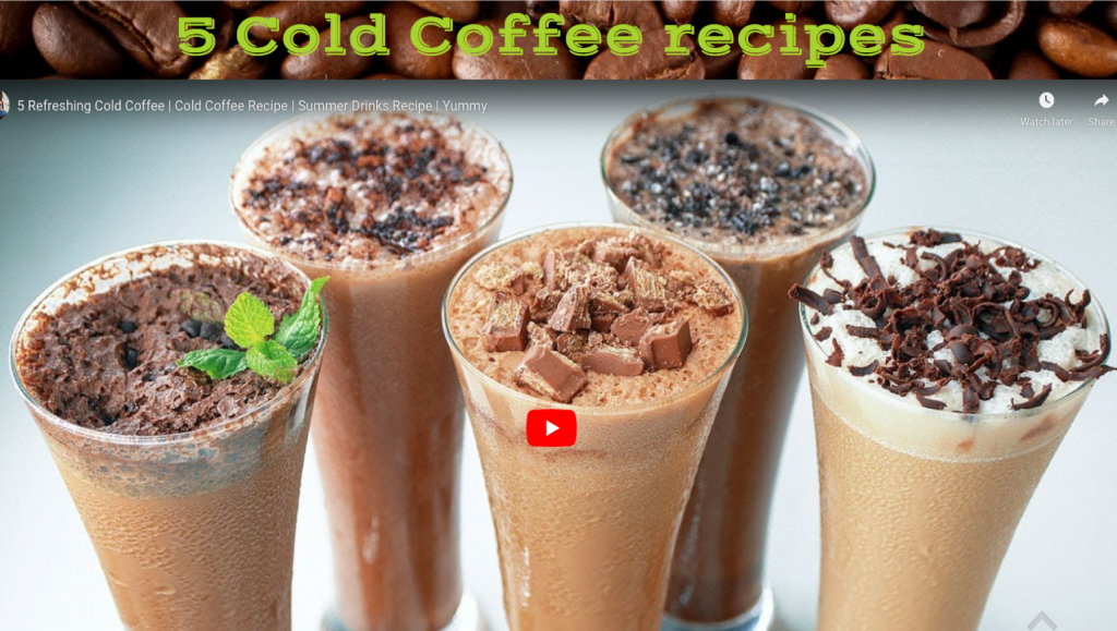 5 cold coffee recipes